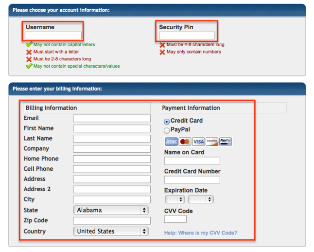 hostgator-username-billing